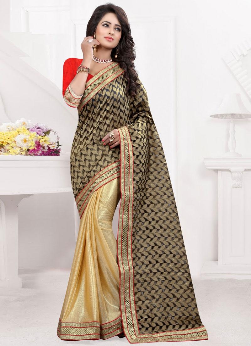 Versatile Jacquard Lace Work Party Wear Saree