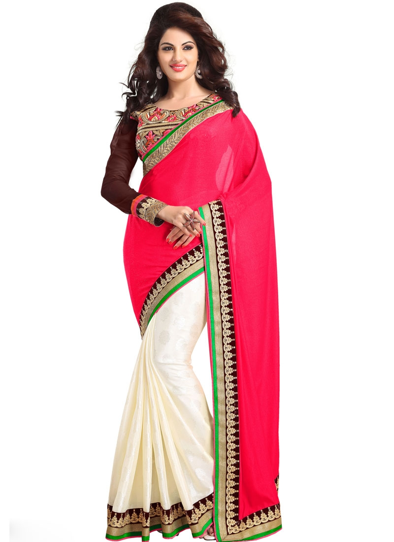 Versatile Resham And Patch Work Party Wear Saree