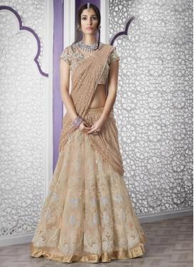 Vibrant Net Designer Lehenga Style Saree