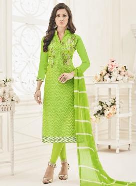 Vivacious  Chanderi Silk Trendy Salwar Kameez