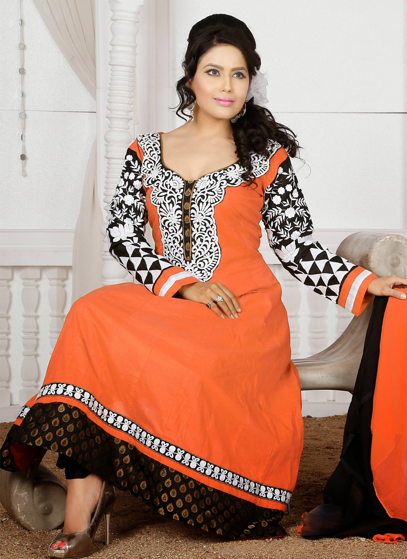 Vivacious Karachi Work Readymade Churidar Suit