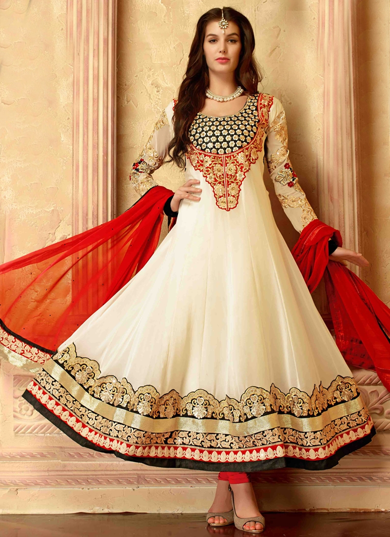 Vivacious Patch Border Work Anarkali Salwar Suit
