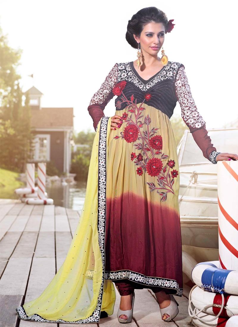 Vivacious Resham Enhanced Anarkali Suit