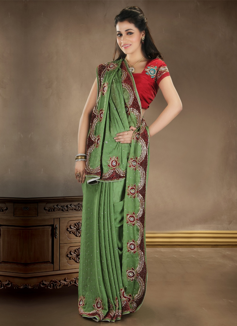 Vivacious Velvet Enhanced Bridal Saree