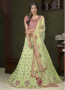Voguish Embroidered Work  Trendy A Line Lehenga Choli