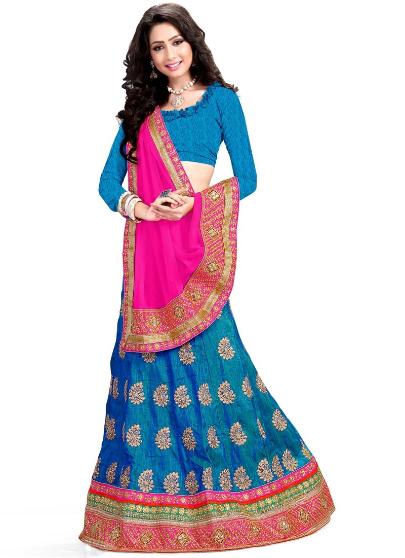Voguish Patch Border Work Designer Lehenga Choli