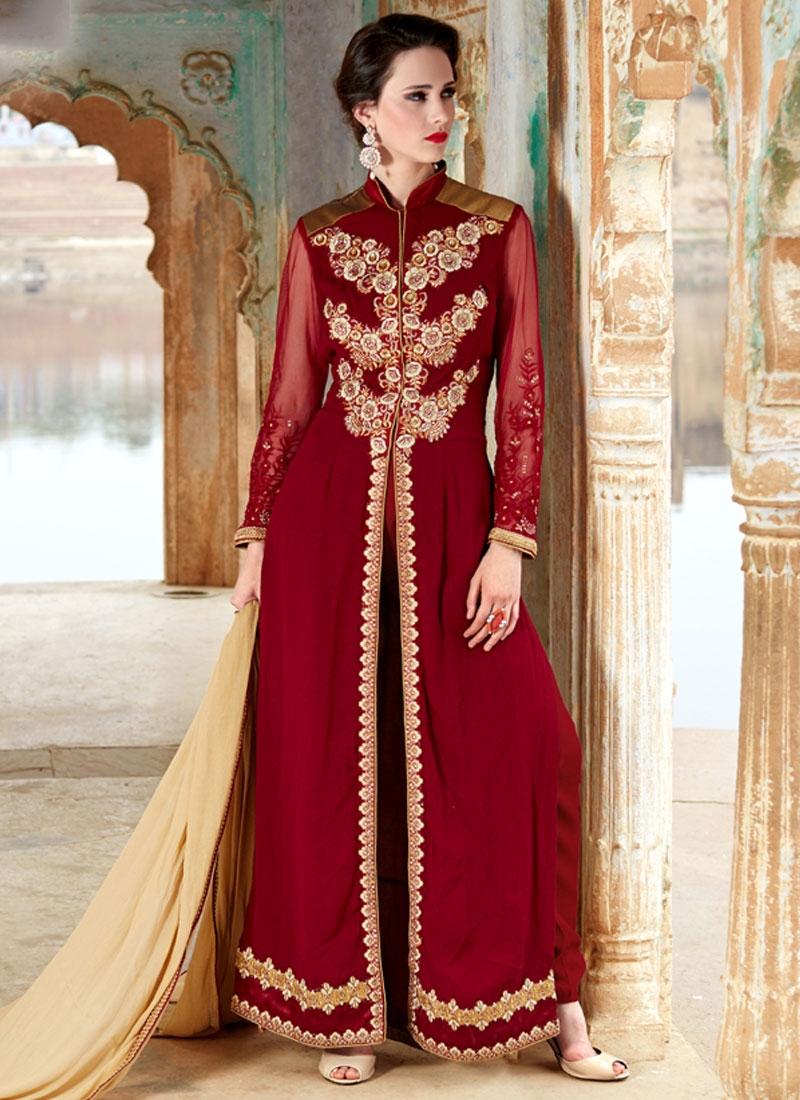 Voguish Pure Georgette Long Length Designer Salwar Kameez