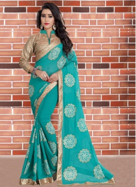 Voluptuous  Beads Work Designer Contemporary Saree