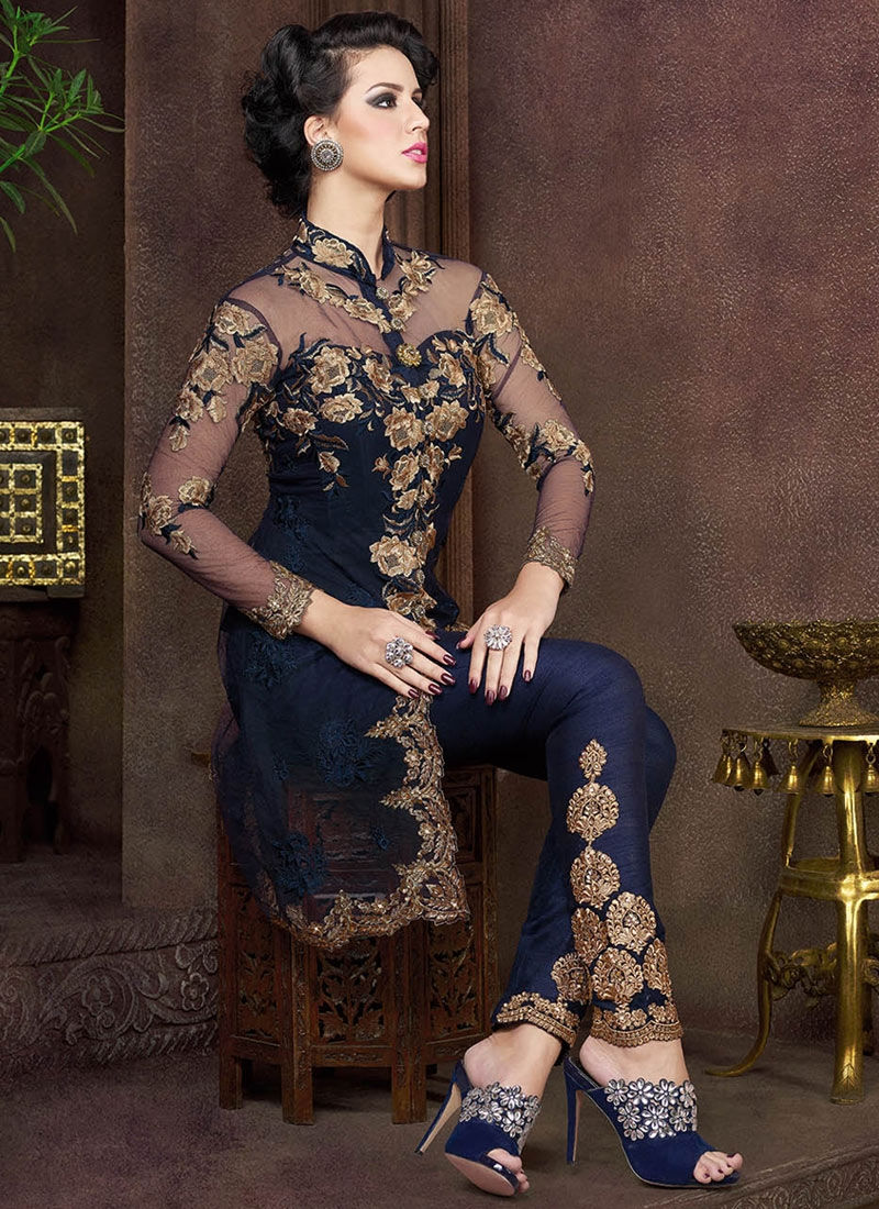 Voluptuous Embroidery Work Pant Style Designer Salwar Suit