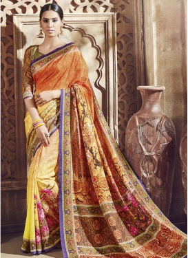 Voluptuous Art Silk Party Wear Saree
