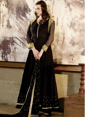 Voluptuous Black Color Long Length Designer Salwar Suit