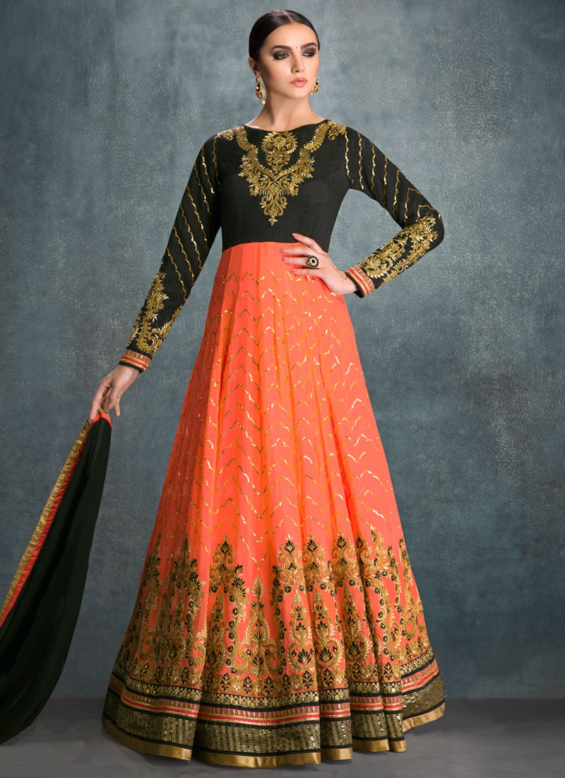 Voluptuous Sequins Work Floor Length Wedding Salwar Suit