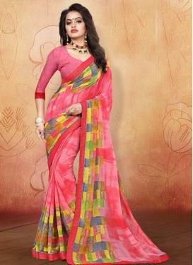 Weight Less Digital Print Work Trendy Classic Saree