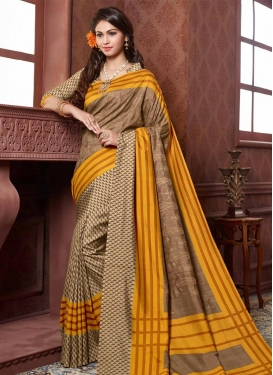 Whimsical  Art Silk Trendy Saree