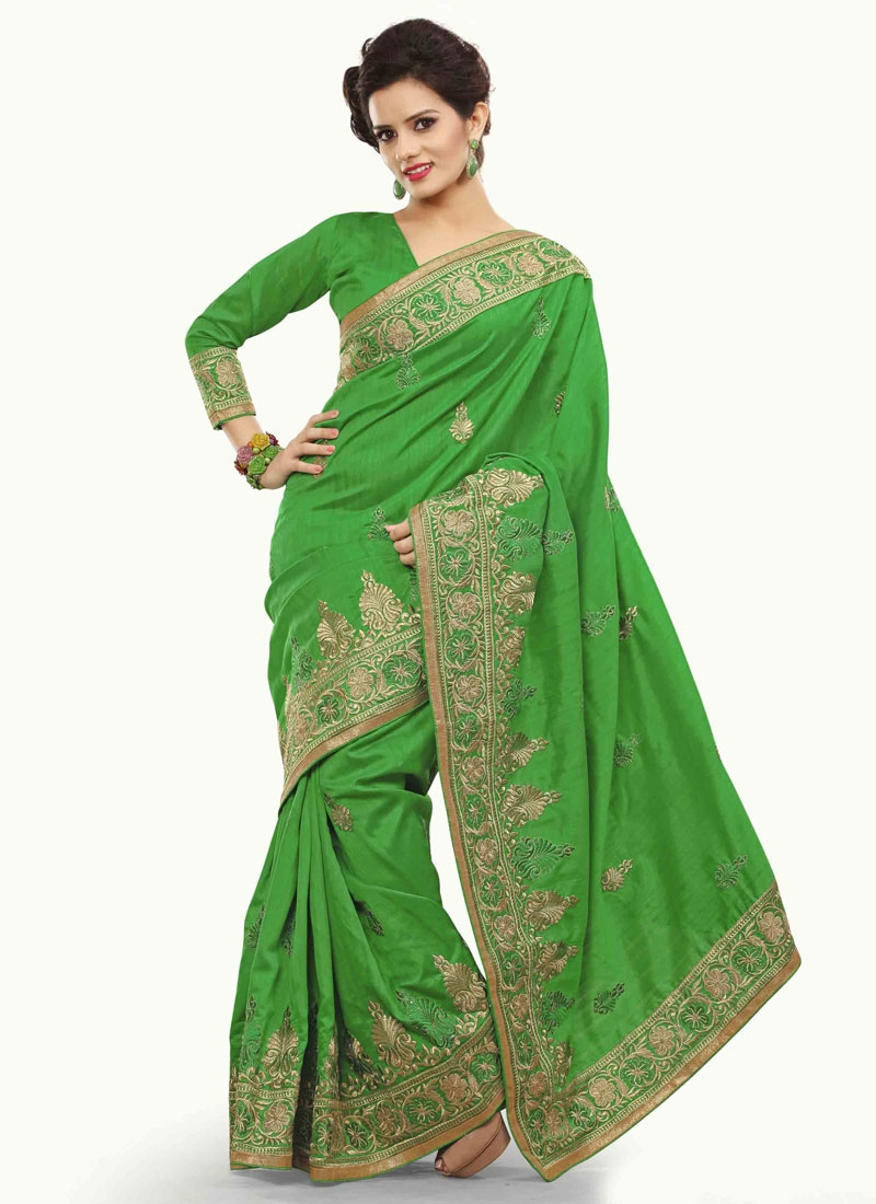 Whimsical Embroidery And Booti Work Party Wear Saree