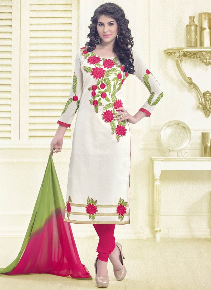 Whimsical Floral Work Casual Salwar Kameez