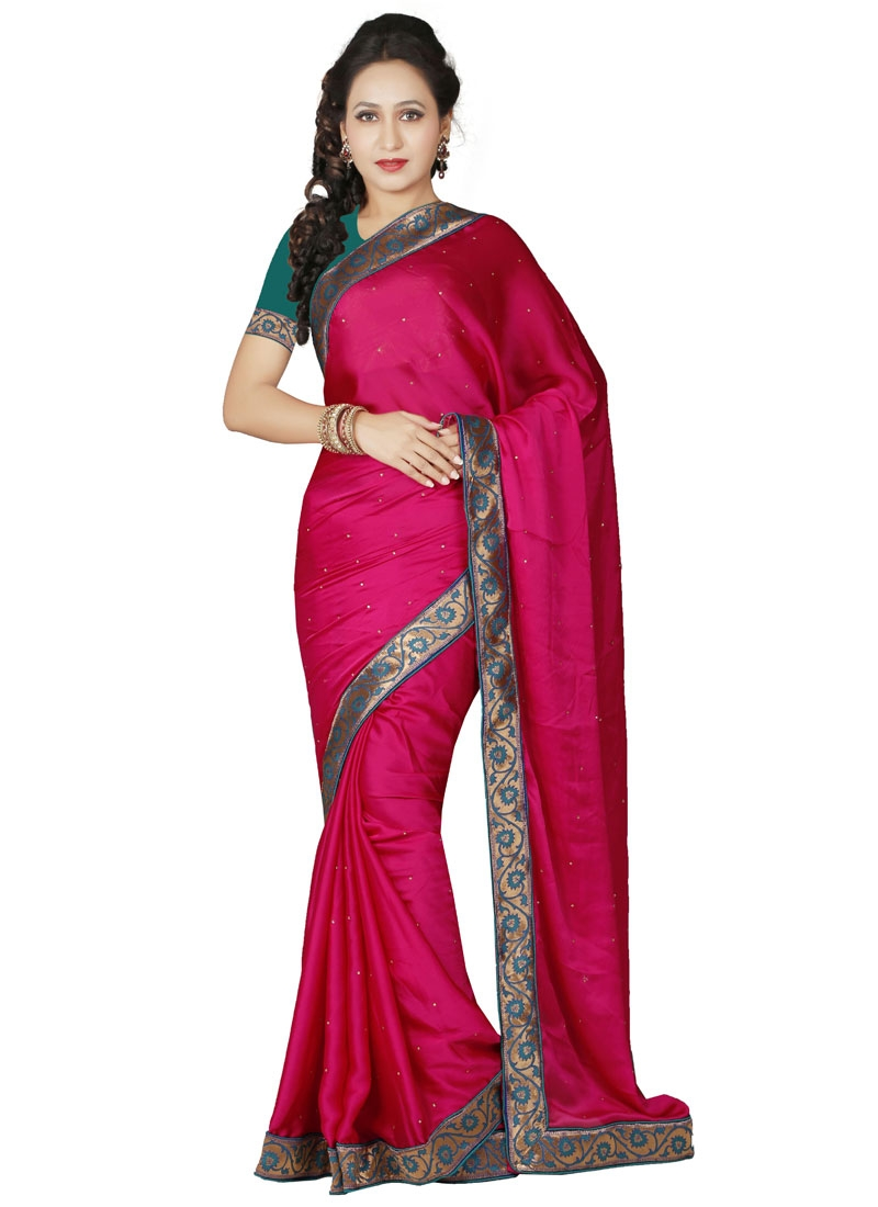 Whimsical Lace And Stone Work Casual Saree