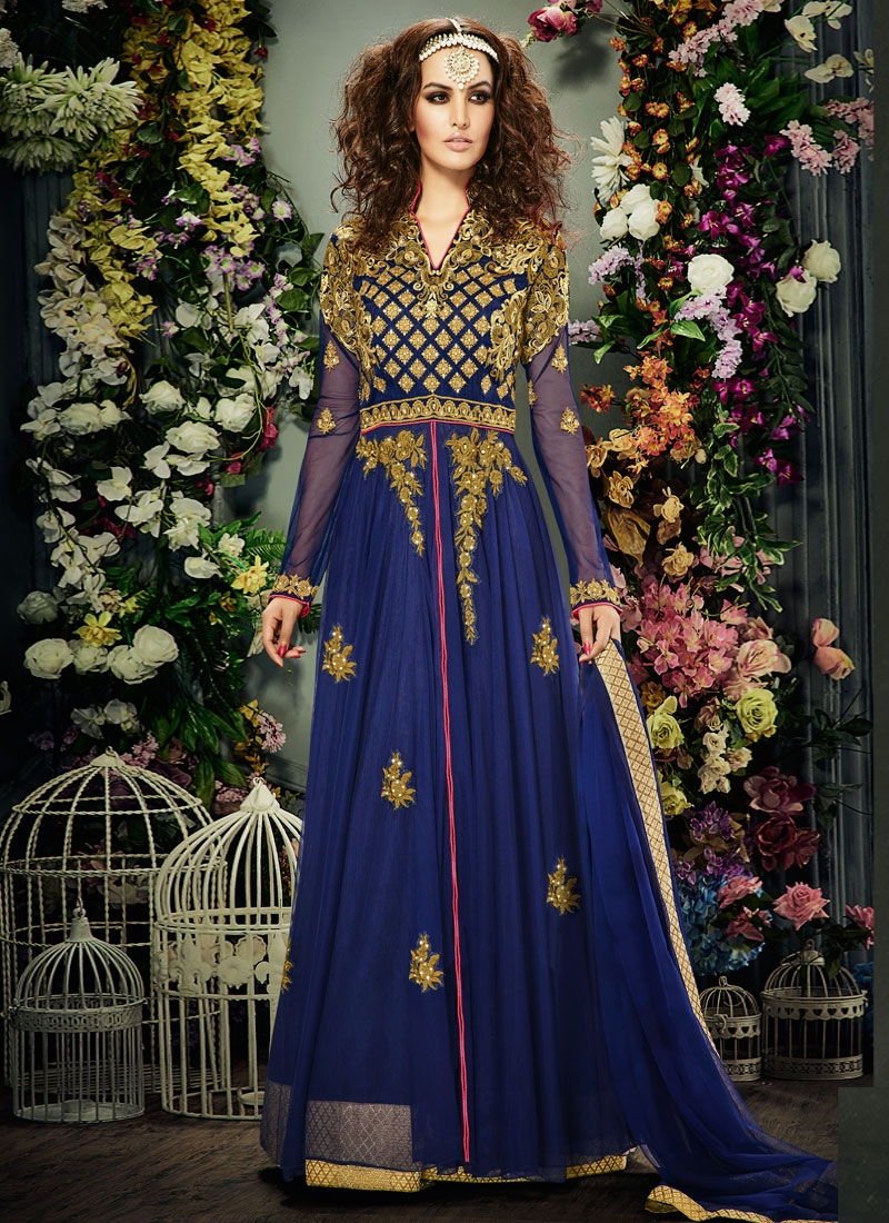 Winsome Banglori Silk And Net Long Length Designer Suit