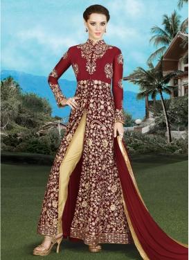Winsome  Booti Work Pant Style Salwar Kameez