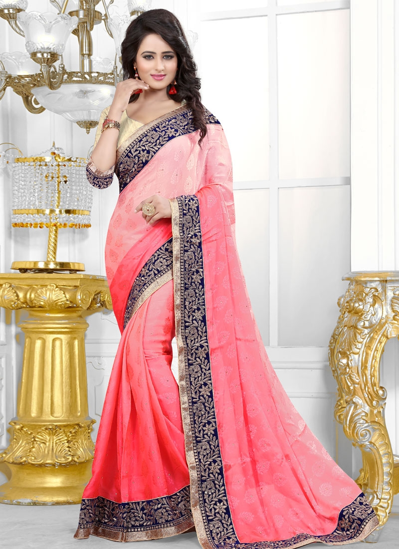 Winsome Jacquard Stone Work Party Wear Saree