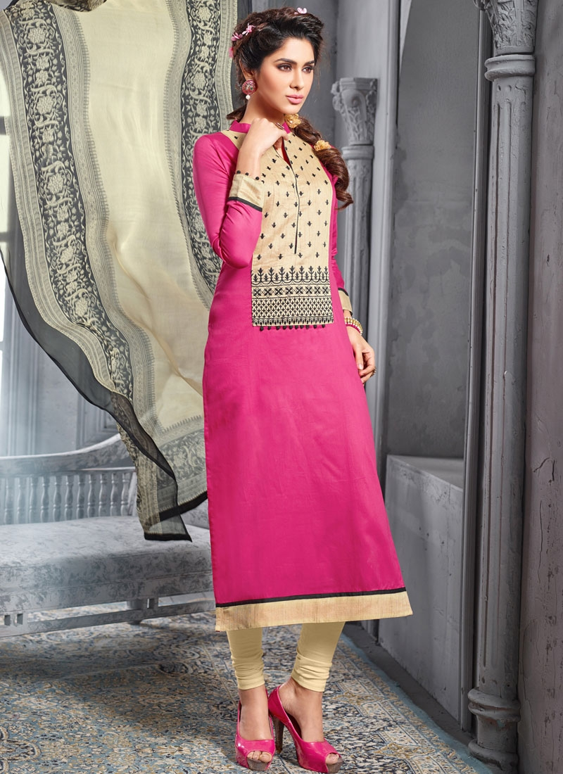 Winsome Resham Work Chanderi Cotton Casual Salwar Suit