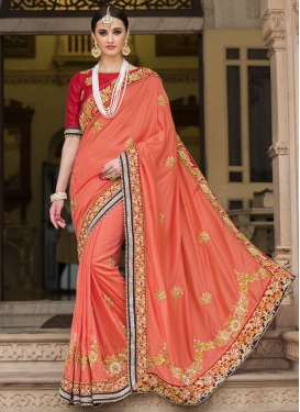 Wonderous Beads Work  Designer Traditional Saree For Bridal