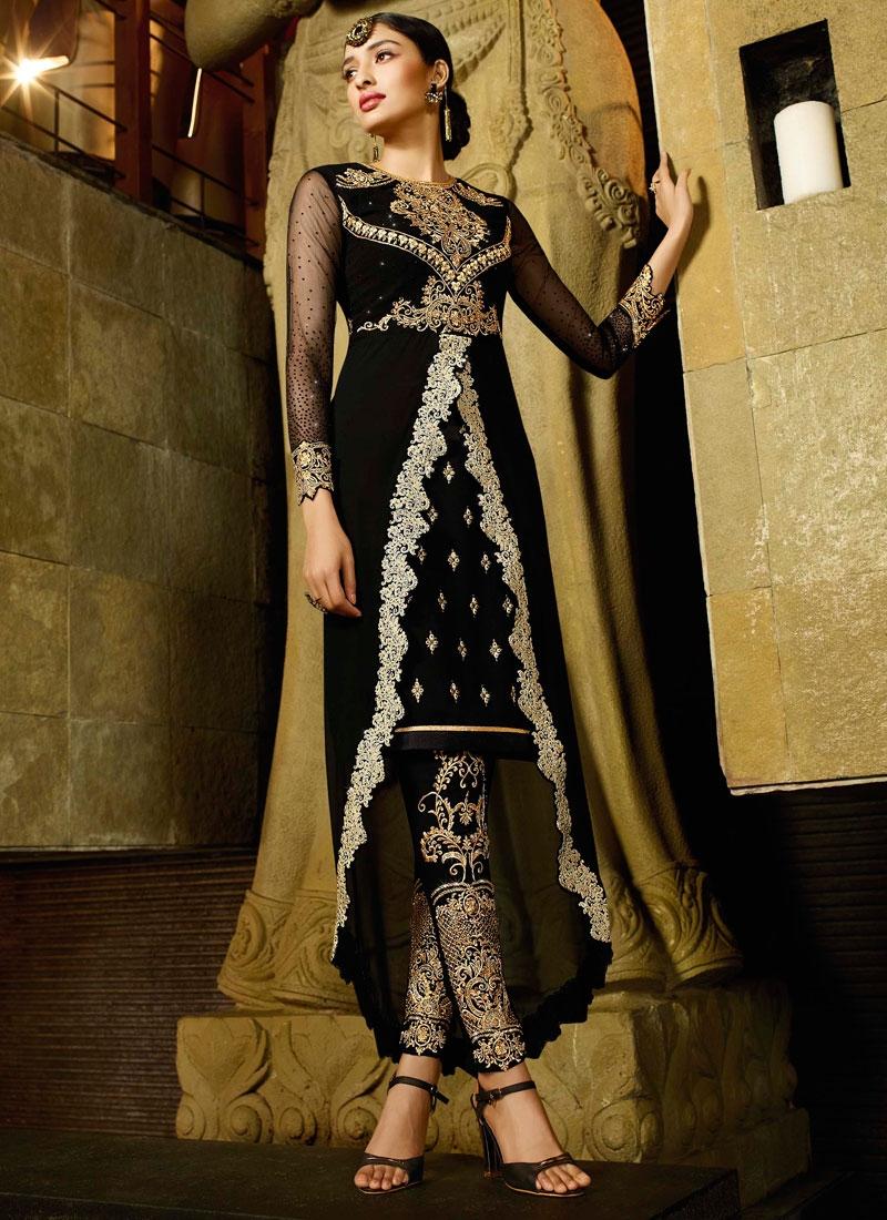 Wondrous Black Color Pant Style Designer Salwar Kameez