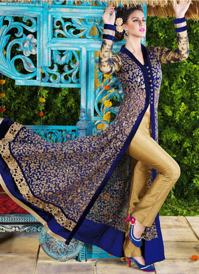 Wondrous Sequins Work Pant Style Designer Salwar Suit