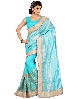 Wondrous Sequins Work Party Wear Saree
