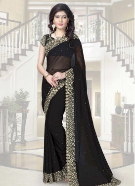 Zesty  Beads Work Classic Saree