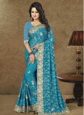 Zesty Faux Georgette Traditional Designer Saree